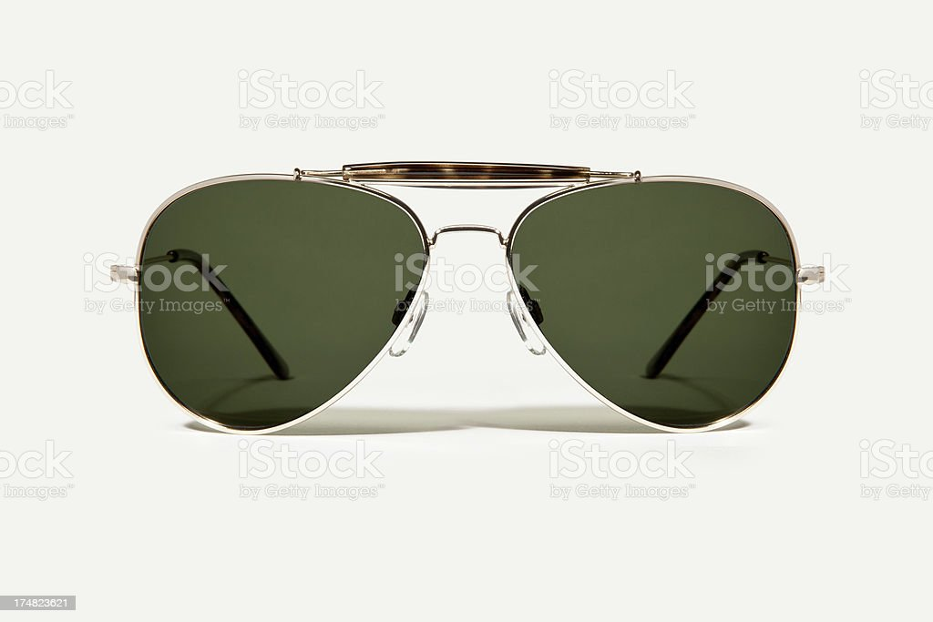 Pair of Tinted lens avaitor sunglasses stock photo