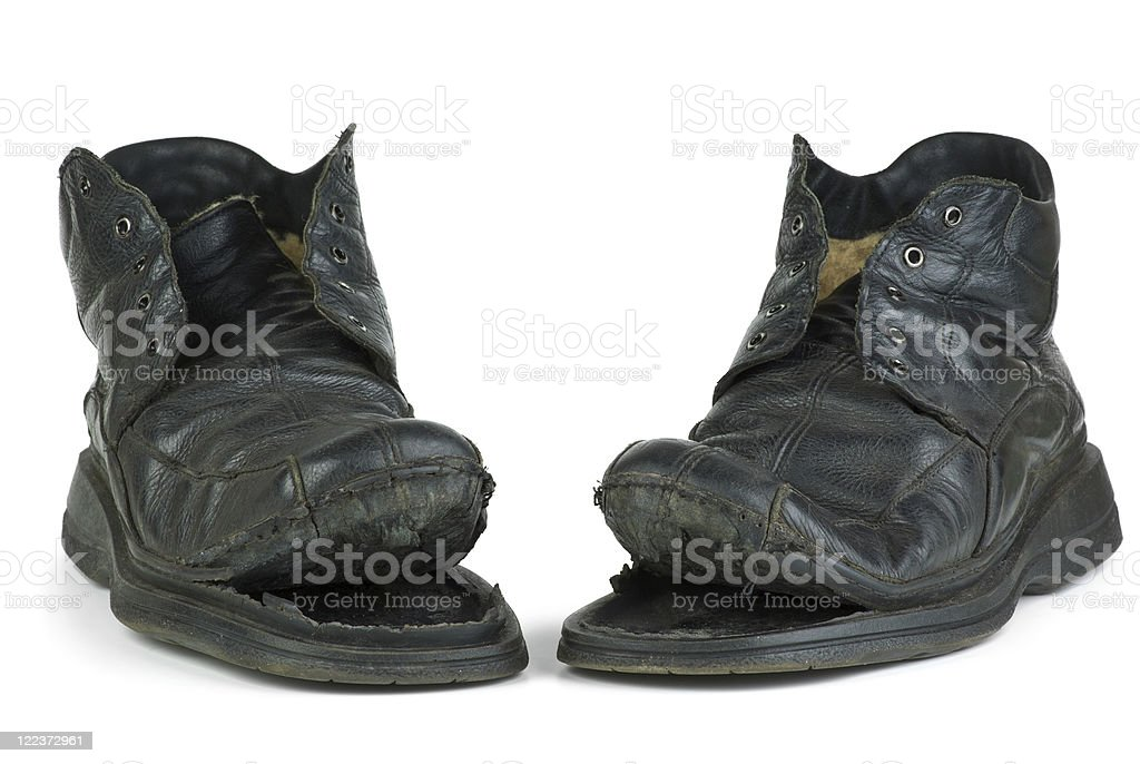 Par de botas de Rasgado foto de stock royalty-free