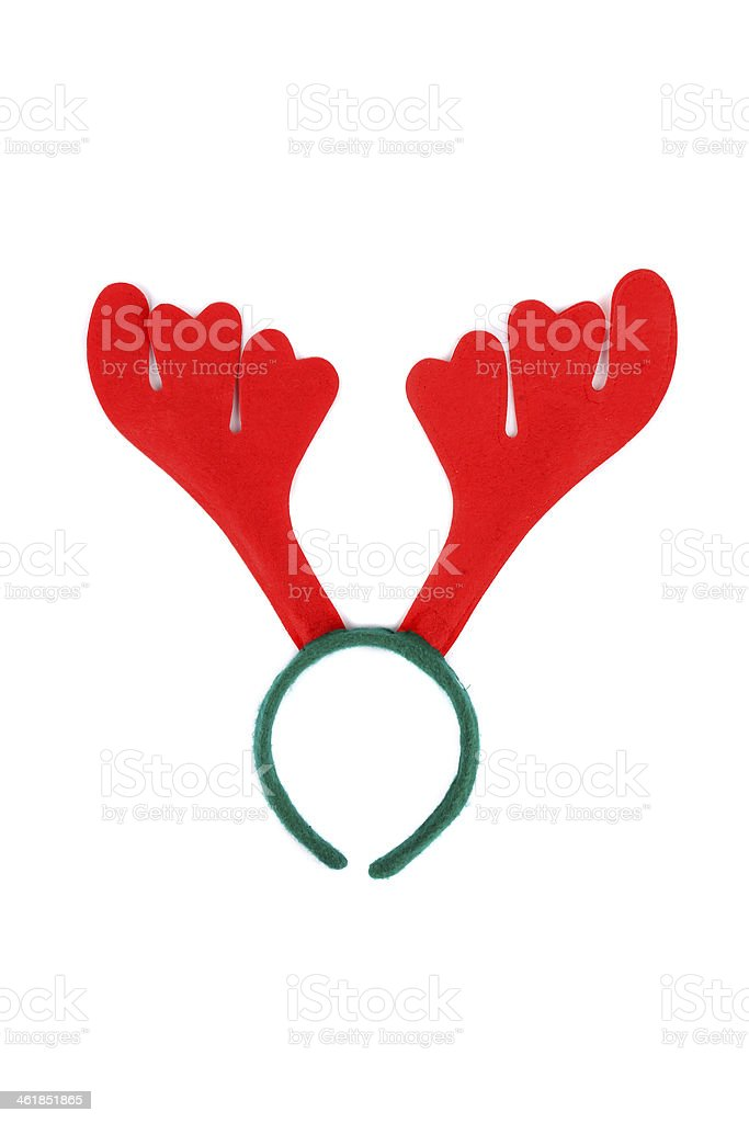 Pair of toy reindeer horns. royalty-free stock photo