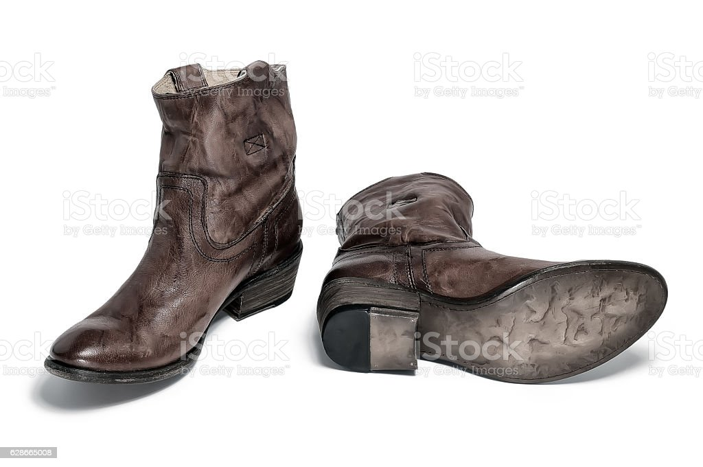 Pair Of Traditional Cowboy Boots Retro Tone stock photo 628665008 ...