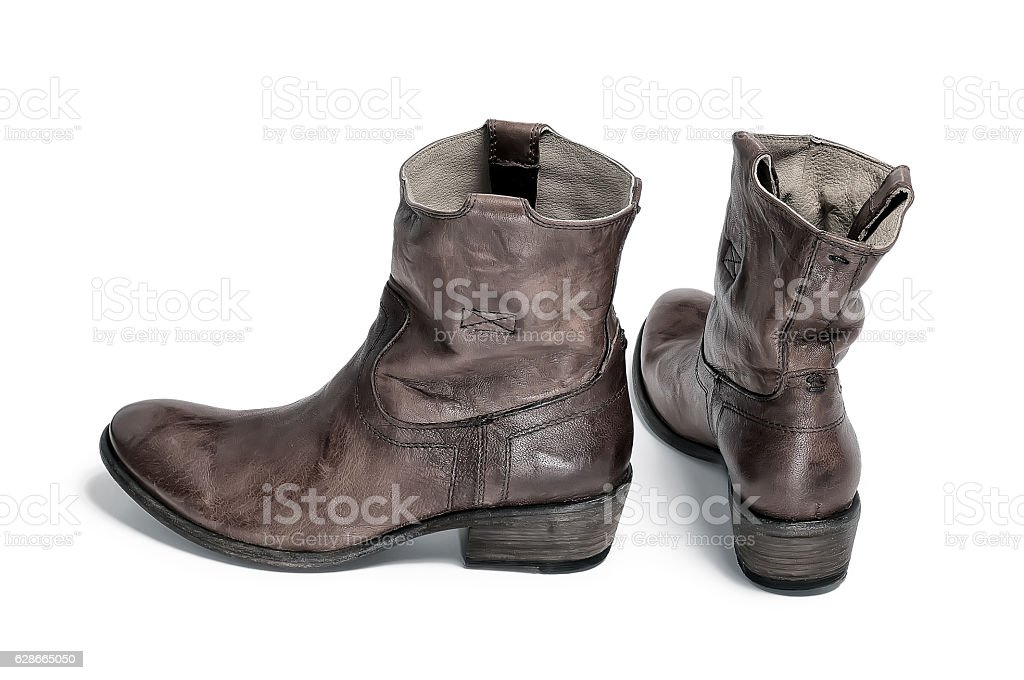 Pair Of Traditional Cowboy Boots Retro Tone stock photo 628665050 ...