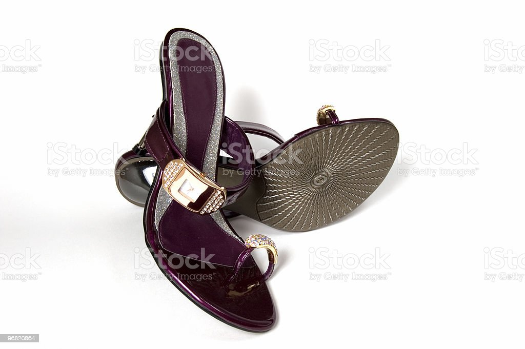 Pair of Violet Shoes royalty-free stock photo