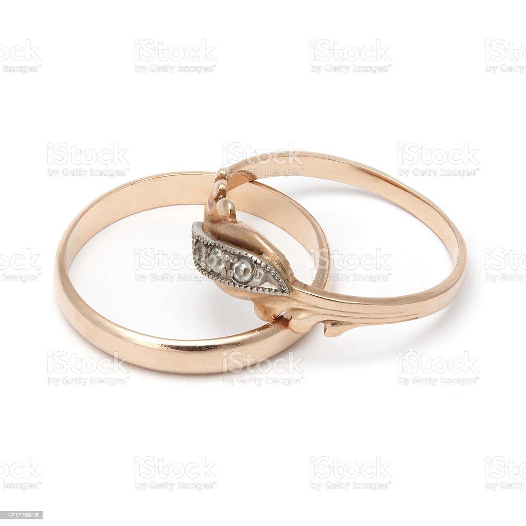 Pair of Wedding Rings stock photo