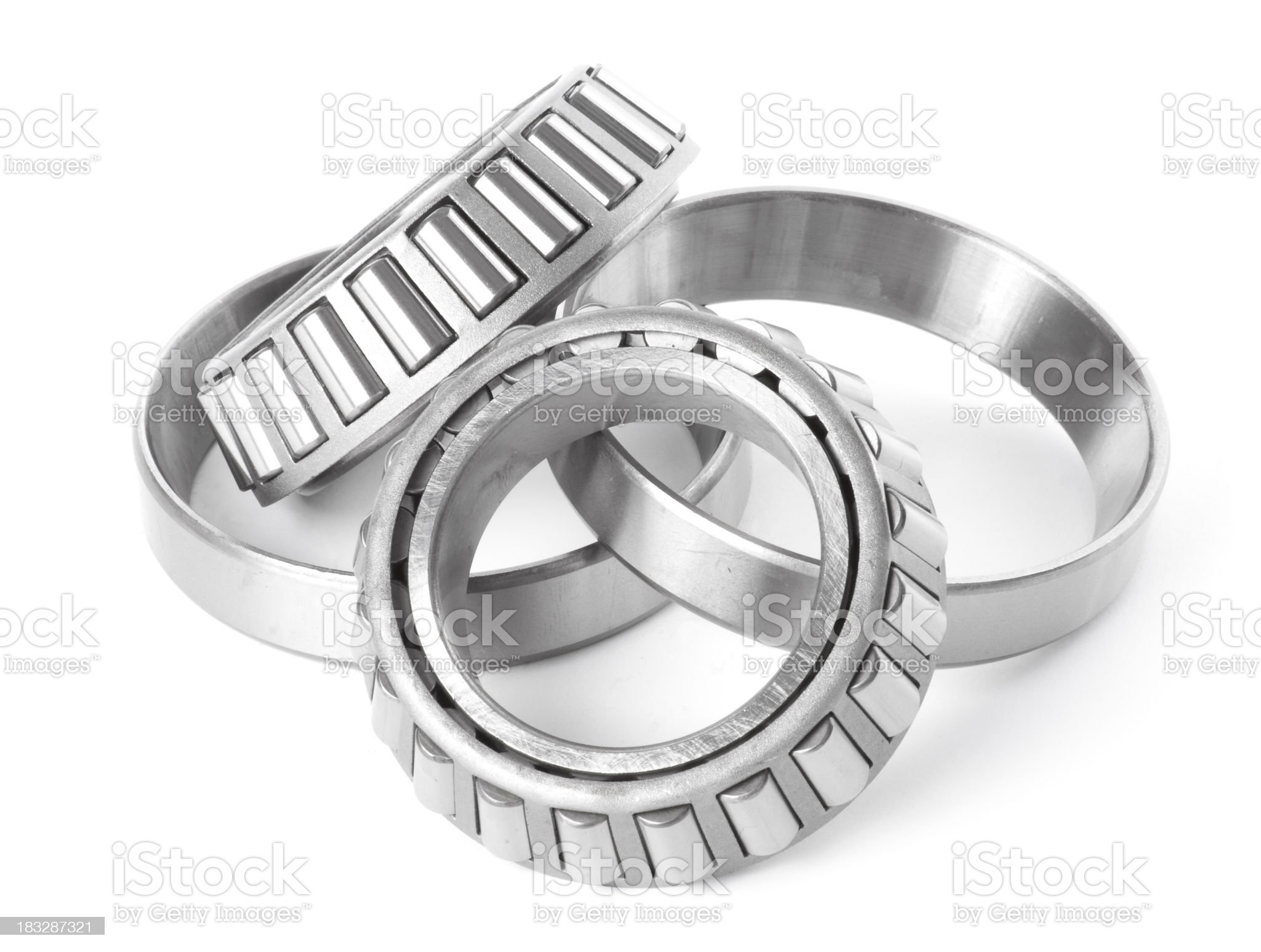 Pair of Wheel Bearings and Rings royalty-free stock photo