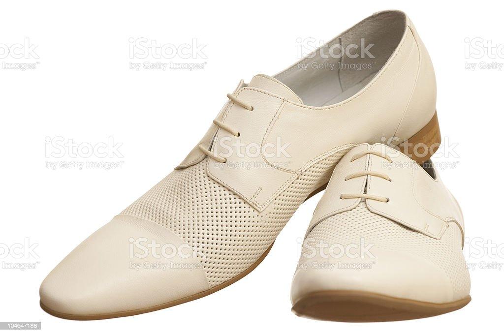 Pair of white men shoes royalty-free stock photo