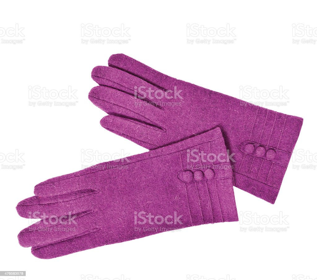 pair of woman leather gloves stock photo