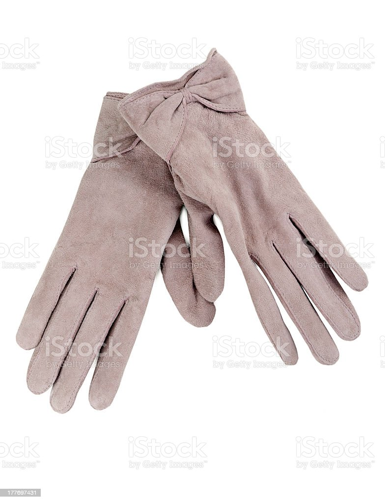 pair of women's gloves royalty-free stock photo