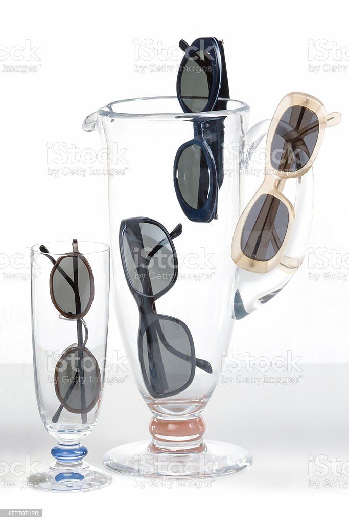 Pairs of sunglasses royalty-free stock photo