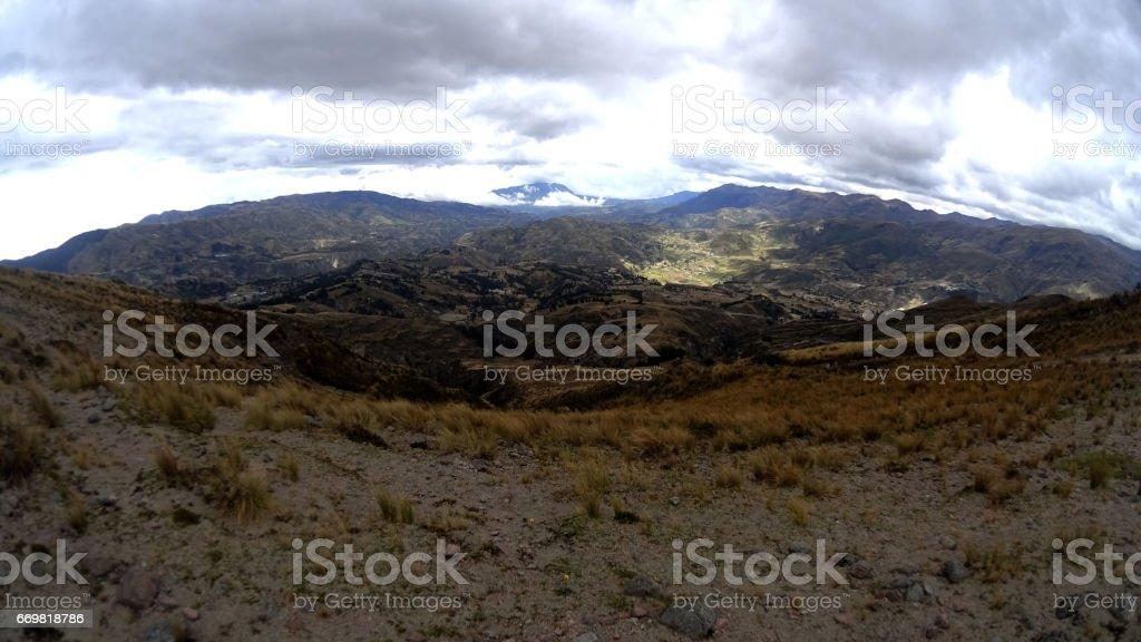 paisaje ecuatoriano stock photo
