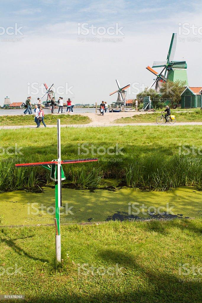 Paisajes tipicos en Volendam stock photo