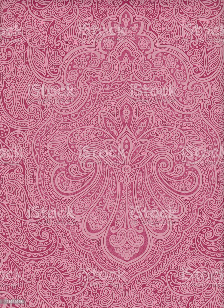 Paisley indian middle east pink old vintage - XXXL royalty-free stock photo