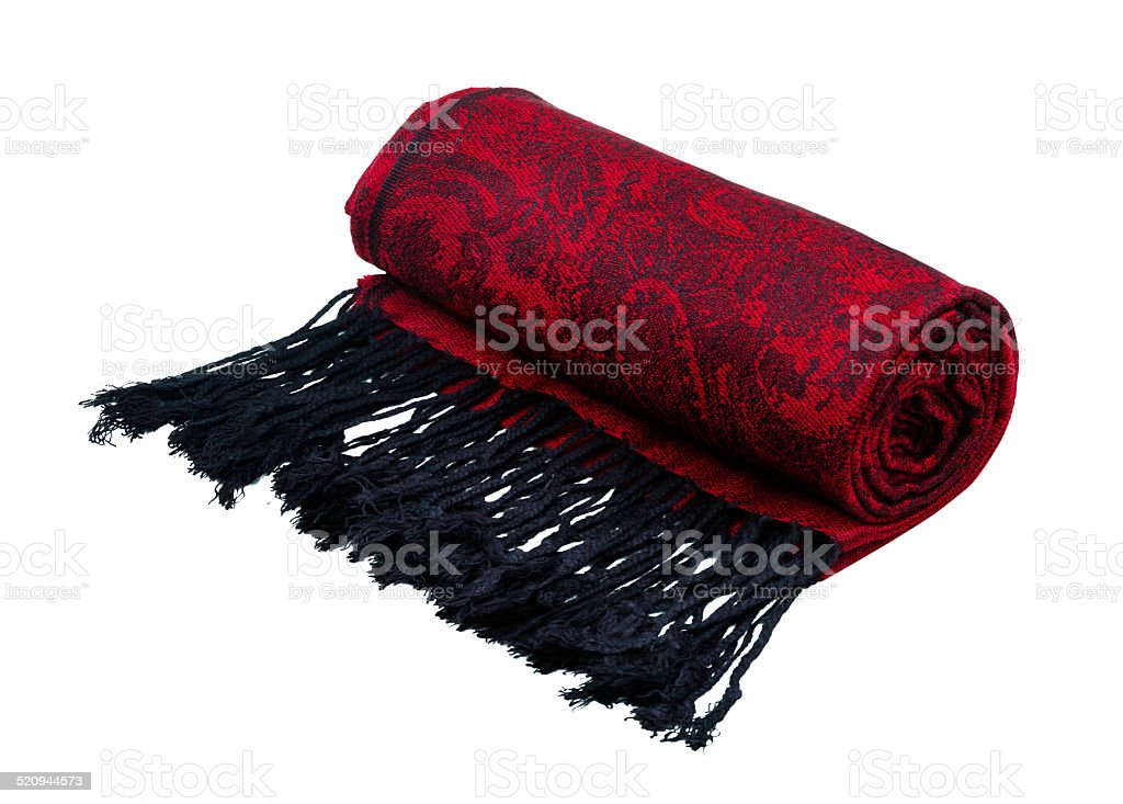 Paisley pattern cashmere scarf stock photo