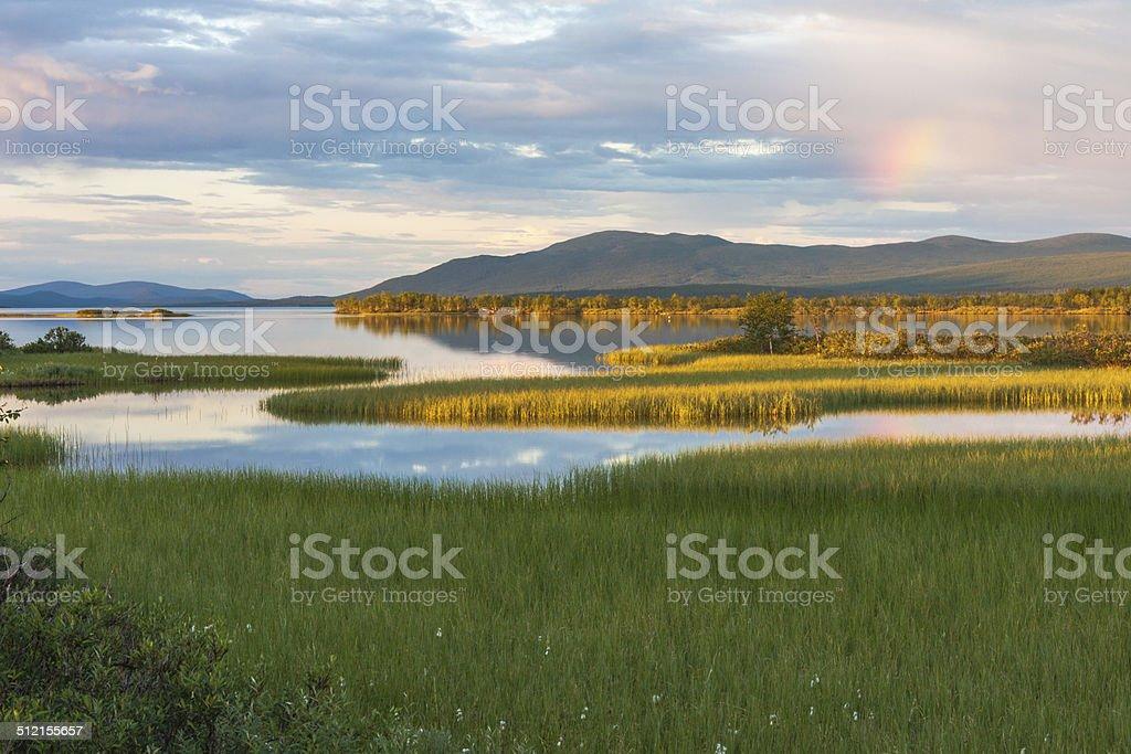 paitasjärvi, Nikkaluokta, Kiruna, Swedish lapland stock photo