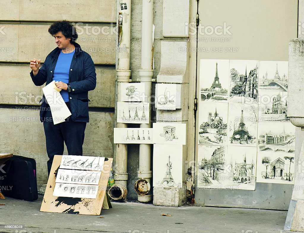 Paitings seller royalty-free stock photo