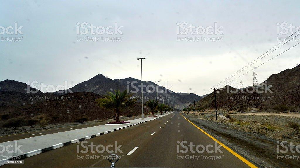 Pajero on Road stock photo