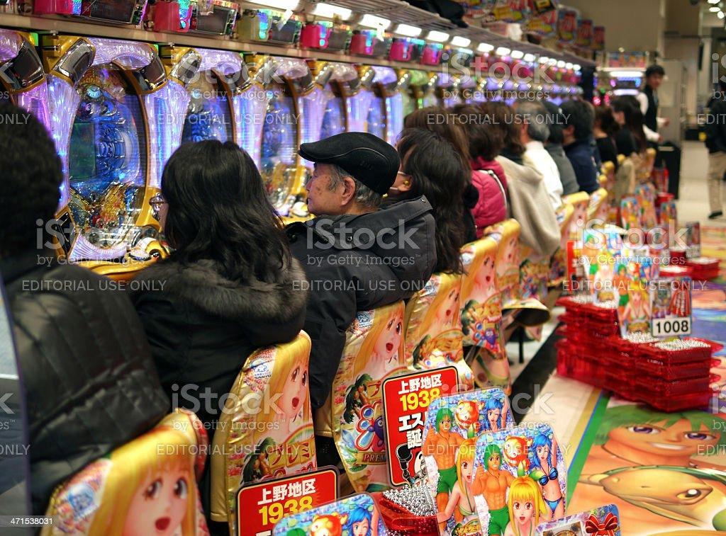 Pajingko - Slot machines in Japan. royalty-free stock photo