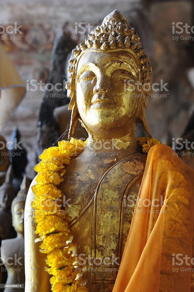 Pak ou caves, buddha figures inside cave, Luang Prabang, Laos stock photo