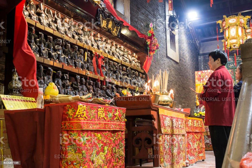 Pak Tai temple in Hong Kong stock photo