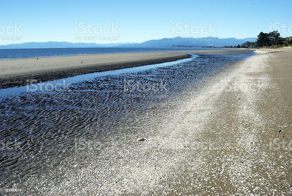 Pakawau Seascape, Collingwood, Golden Bay, New Zealand royalty-free stock photo