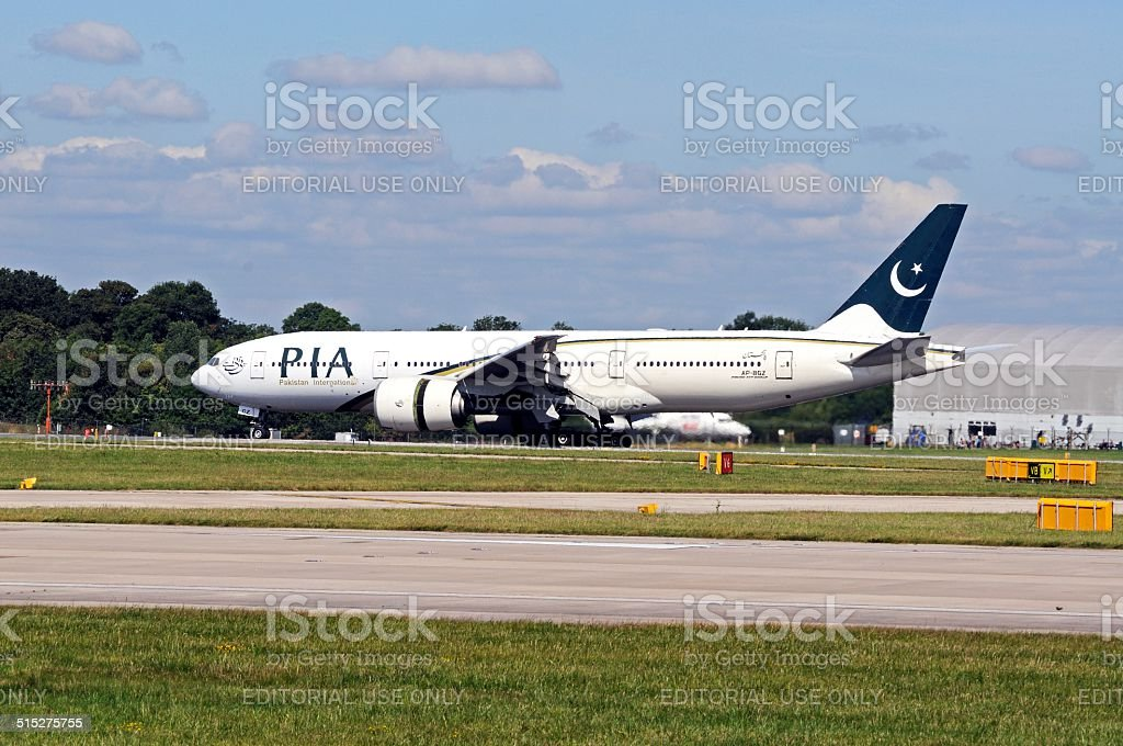 Pakistan Airways Boing 777. stock photo
