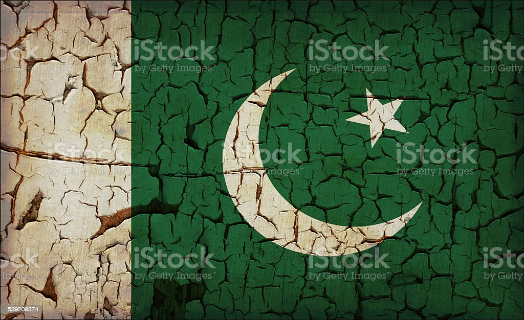 Pakistan - vintage flag stock photo