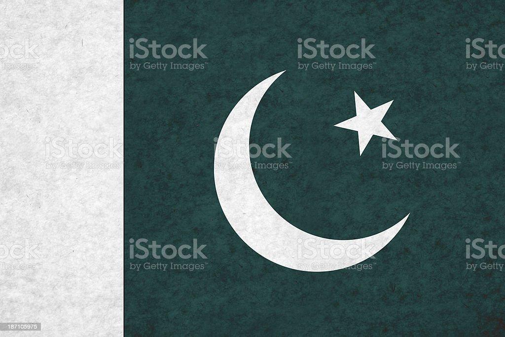 Pakistani flag stock photo