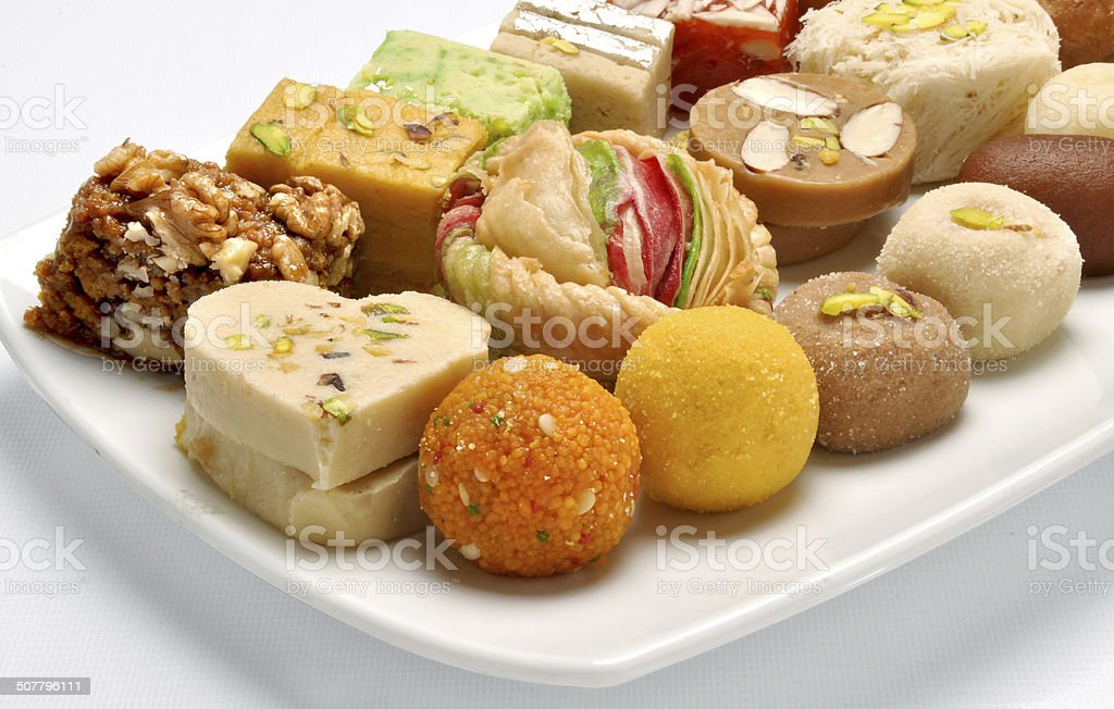 Pakistani Mithai-4 stock photo