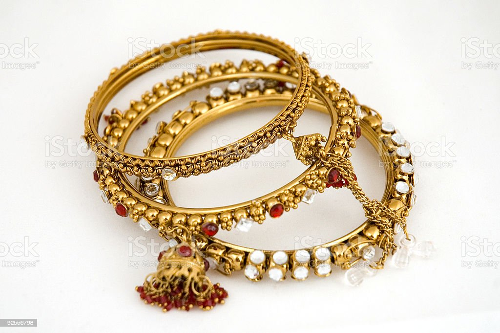 Pakistani Wedding Bracelets stock photo