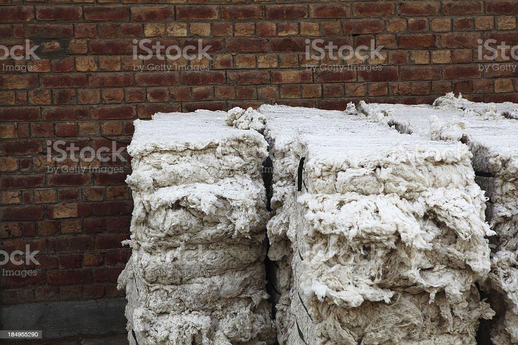 Pakistan's Organic Cotton Bales royalty-free stock photo