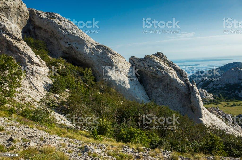 Paklenica Velebit mountains in Croatia stock photo