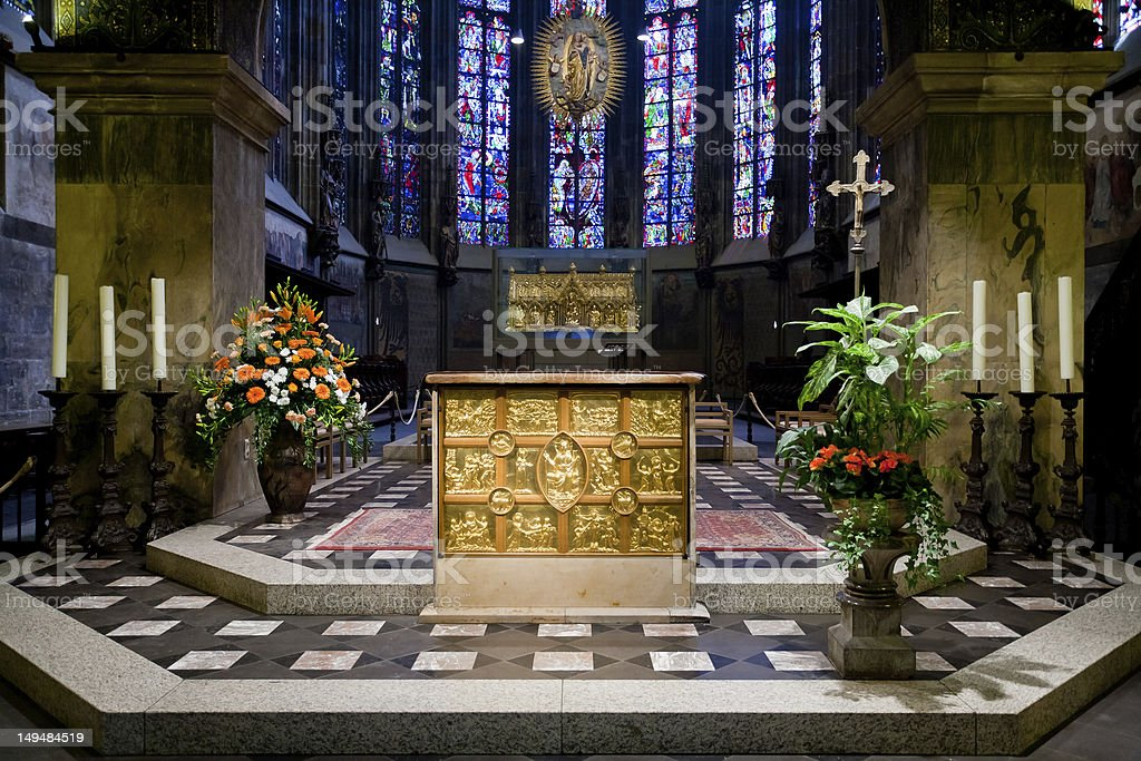 Pala d'Oro in Aachen cathedral, Germany stock photo