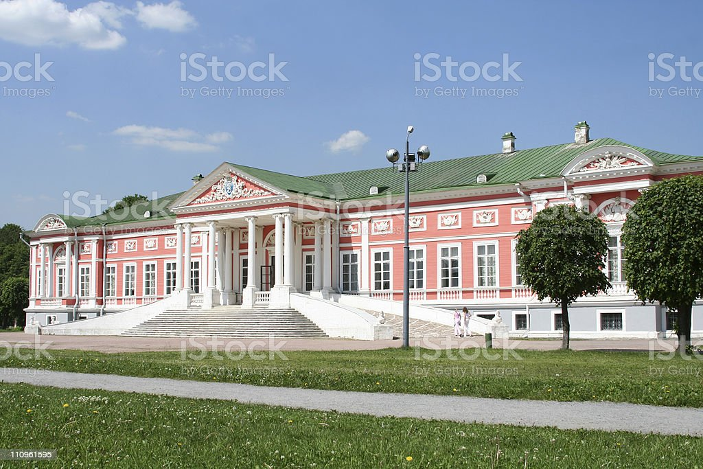 Palace at the museum-estate Kuskovo. Moscow, Russia. royalty-free stock photo
