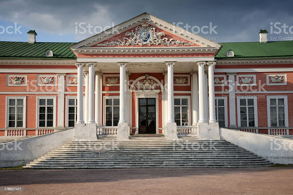 Palace at the museum-estate Kuskovo royalty-free stock photo