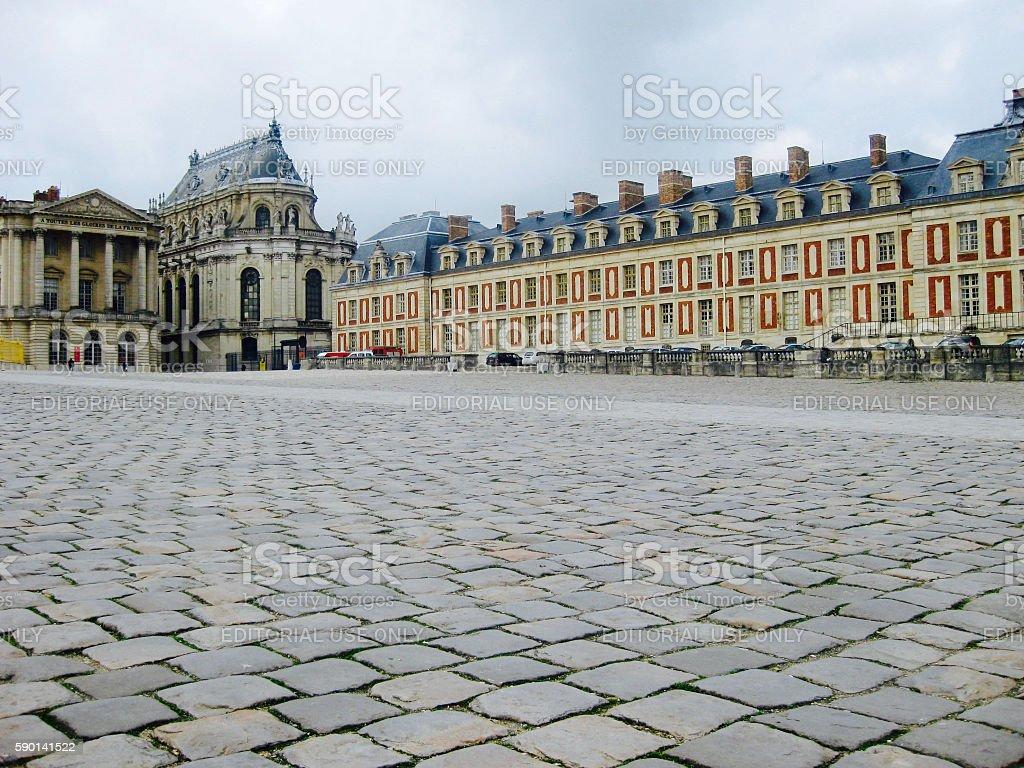 Palace at Versailles - Courtyard stock photo