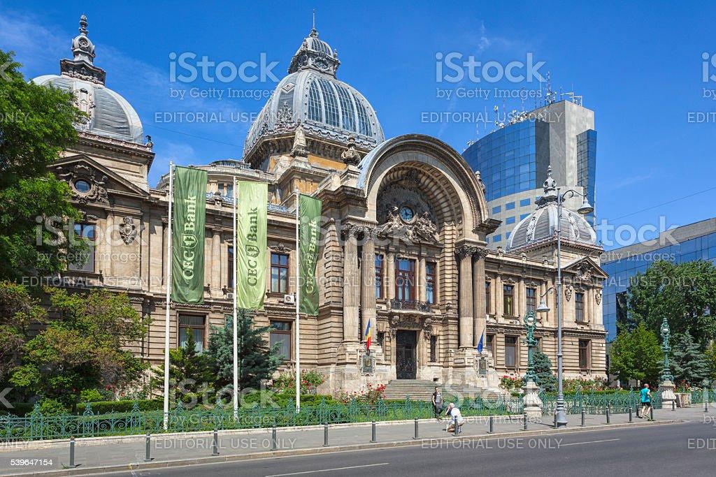 CEC Palace, Bucharest stock photo