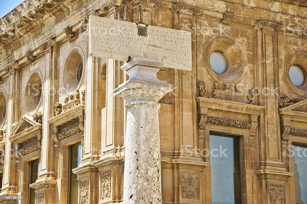Palace Charles V, Alhambra, Granada, Andalusia, Spain stock photo