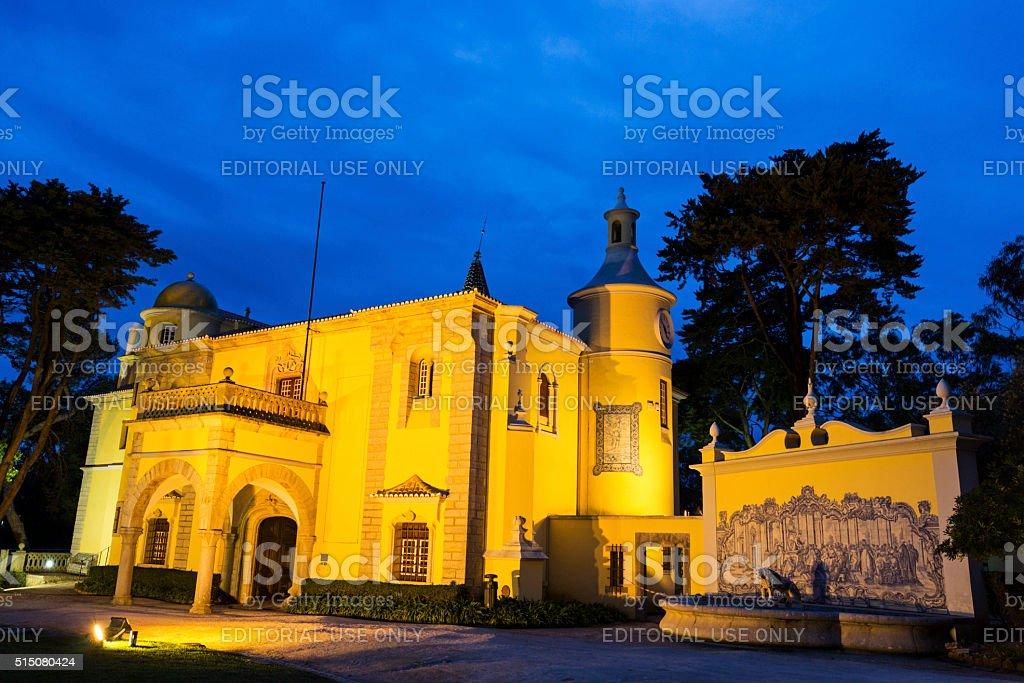 Palace Condes de Castro Guimaraes, Cascais stock photo