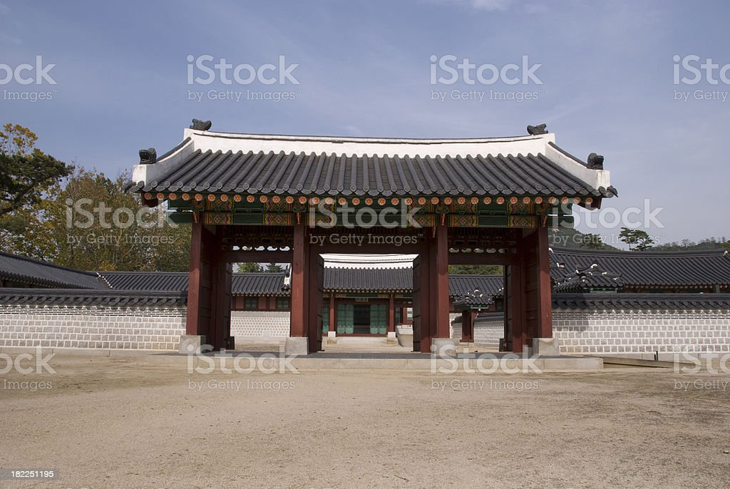 Palace entrance stock photo