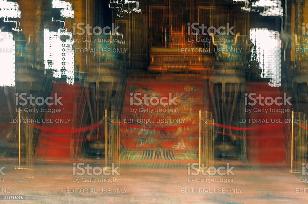 Palace gate, Forbidden City,abstract,blurred, Beijing,China stock photo
