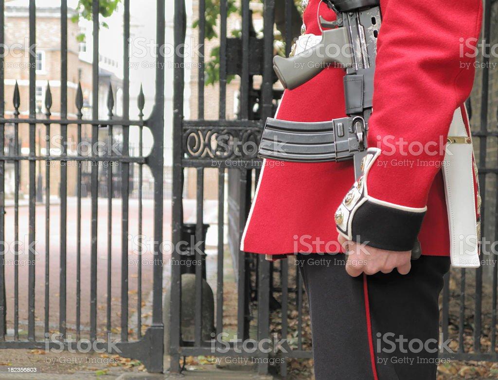 Palace guard detail. royalty-free stock photo