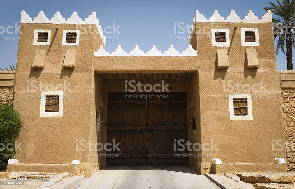 Palace in Diriyah royalty-free stock photo