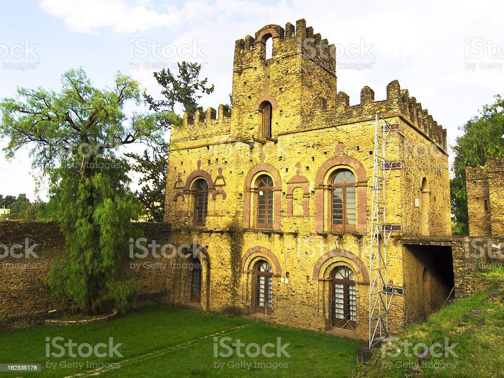 Palace in Gondar stock photo