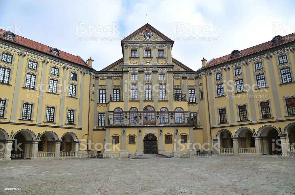 Palace in Nesvizh stock photo
