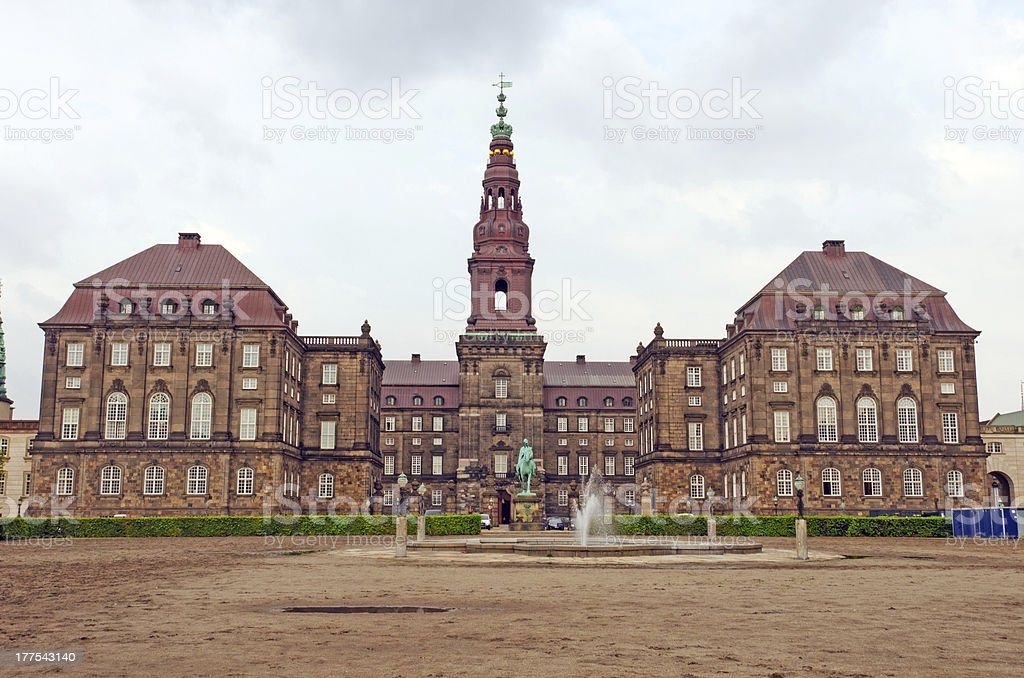 Palace in Northern Europe stock photo