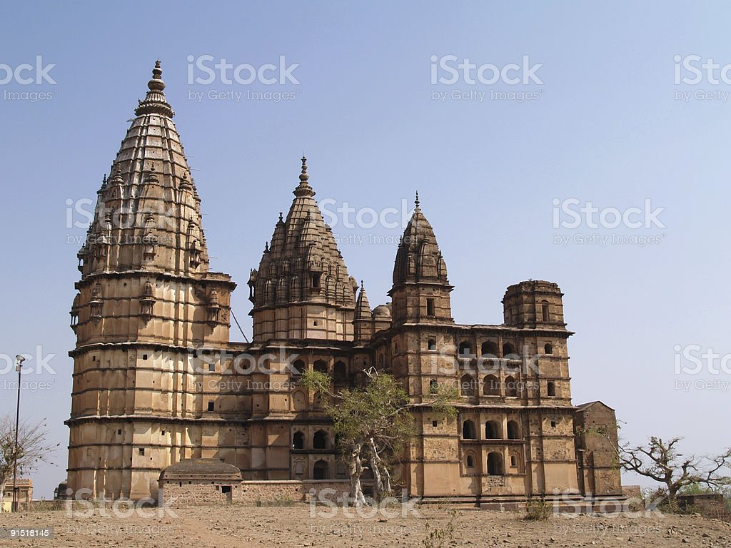 Palace in Orcha royalty-free stock photo