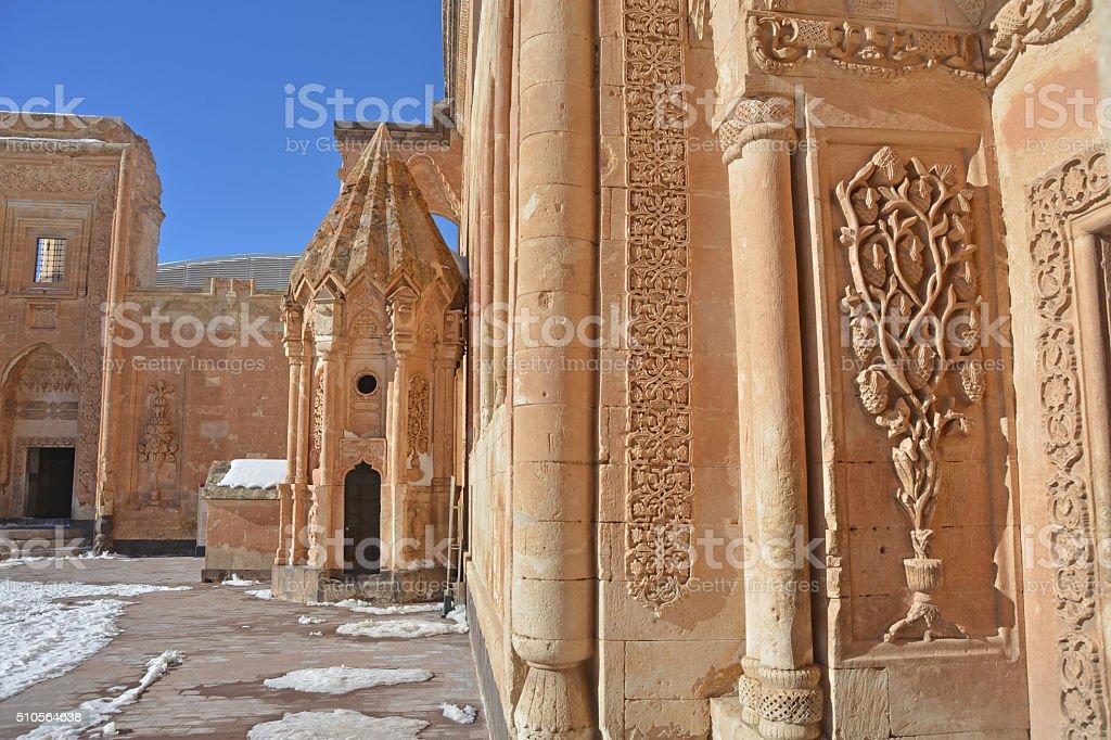 palace Ishak Pasha courtyard stock photo
