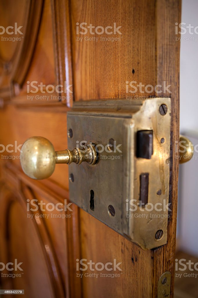 Palace lock with handle royalty-free stock photo