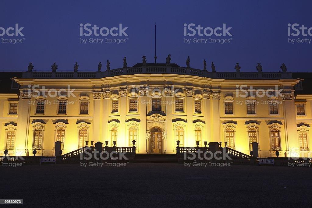 Palace Ludwigsburg Front Close-Up Night royalty-free stock photo