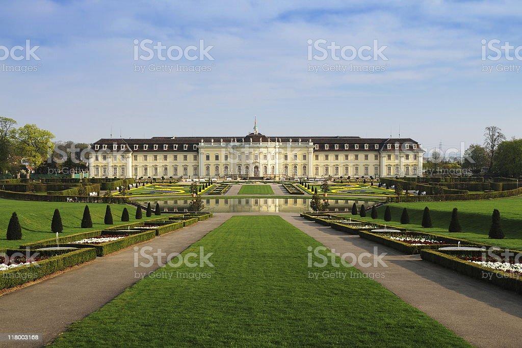 Palace Ludwigsburg with Baroque Park Springtime stock photo