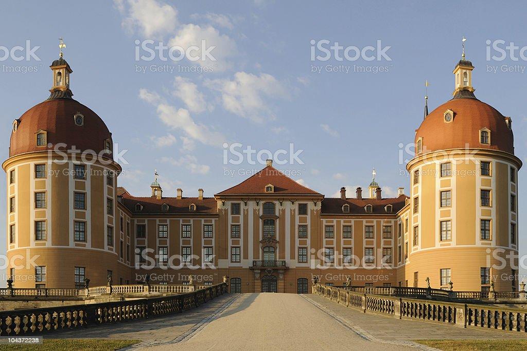 Palace Moritzburg Back Side Sunrise stock photo